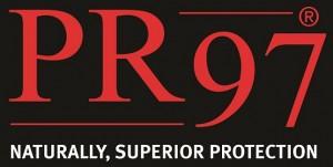PR97 Logo on Black